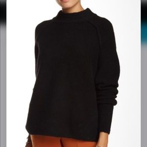 Free People Bubble Crew Sweater Black Small